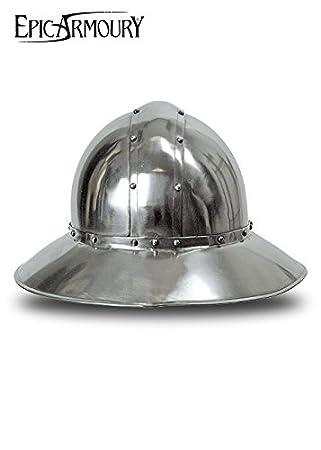 Hierro sombrero Casco de acero Deko Casco schaukampftauglich Ritter Casco LARP Vikingo diferentes tamaños, color