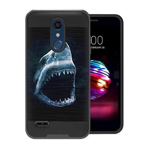 (Capsule Case Compatible with LG K30, LG K10 2018, LG Premier Pro LTE [Hybrid Fusion Dual Layer Slick Armor Case Black] for LG K10 (2018), LG K30 (X410) - (Shark))