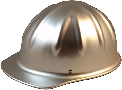 SkullBucket Aluminum Cap Style Hard Hats with Ratchet Suspensions - Silver