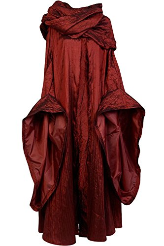 SIDNOR GoT Game of Thrones The Red Woman Melisandre Cosplay Costume Outfit Suit Dress (Large)