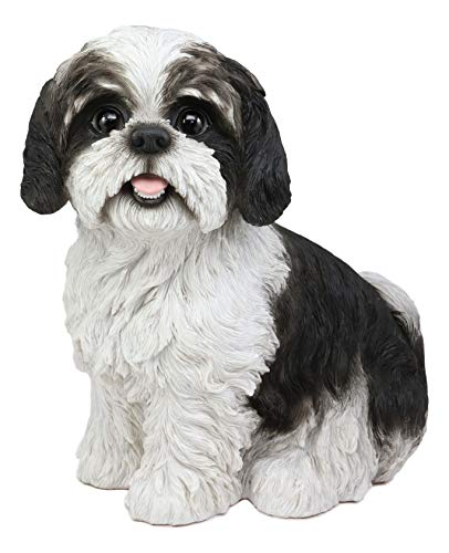 Ebros Large Adorable Lifelike Shih Tzu Dog Statue 10.25