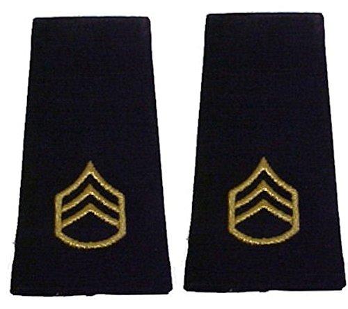 Army Uniform Epaulets - Shoulder Boards E-6 STAFF SERGEANT (Army Uniform Rank)