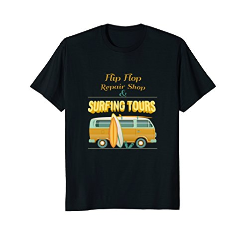 Flip Flop Repair Shop and Surfing Tours Graphic - T Bikini Painted Shirts