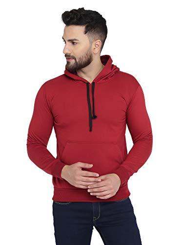 ROCKHARD Full Sleeve Solid Men Sweatshirt Maroon