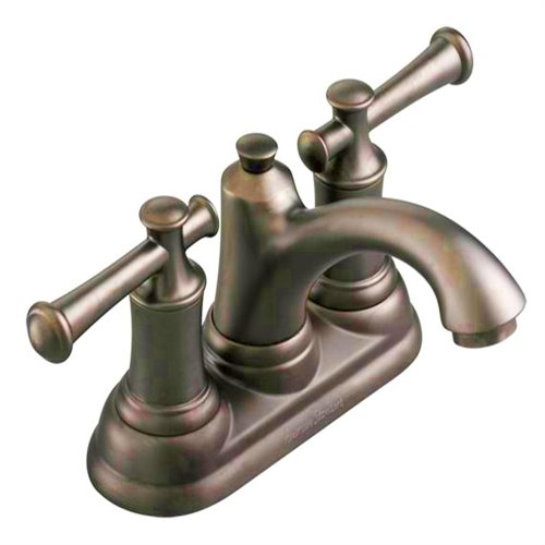 American Standard 7415.201.224 Portsmouth Centerset Faucet with Speed Connect Drain with Lever Handles, Oil Rubbed Bronze 4' Centerset Faucet Oil