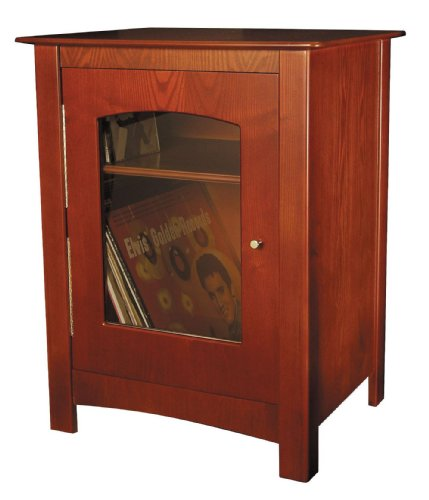 Crosley ST75-PA Bardstown Entertainment Cabinet, Paprika (With Glass Bar Cabinet Doors)