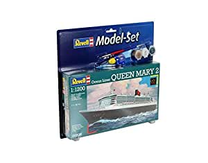 Revell - Maqueta modelo set Ocean Liner Queen Mary 2, escala 1:1200 (65808)