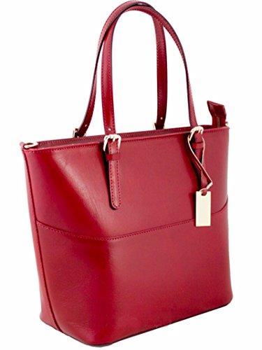 G & G Pelletteria Fiorentina Genuine Leather Bag Red