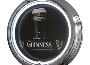 Amazonde Neon Uhr Guinness Wanduhr Deko Uhr Leuchtuhr Usa 50s