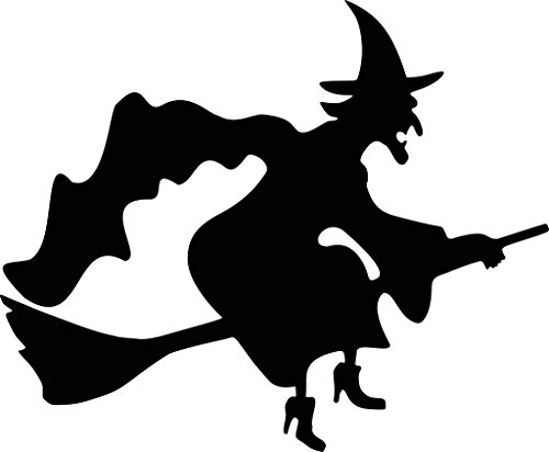 5x7 Halloween Witch Stencil Made From 4 Ply Matboard ()