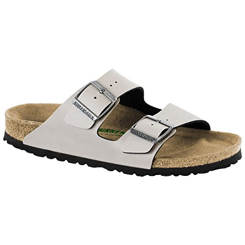 400dacccfeb4 Galleon - Birkenstock Women s Arizona Vegan Sandal Stone Pull Up Birko Flor  Size 41 N EU