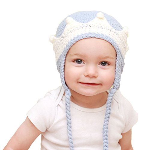 Huggalugs Baby and Toddler Boys Prince Beanie Hat Small