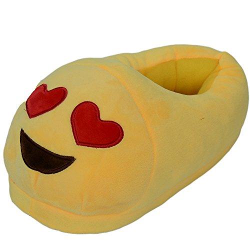 Ea @ Market Unisex-adulto Cartoon Emojiwinter Peluche Pantofole Indoor N. 1 Emoji