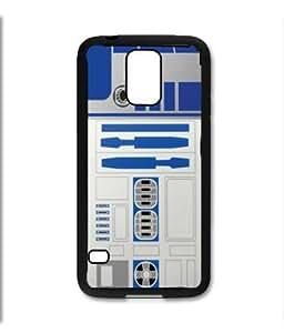 Samsung Galaxy S5 SV Black Rubber Silicone Case - Star Wars R2D2 Original Style