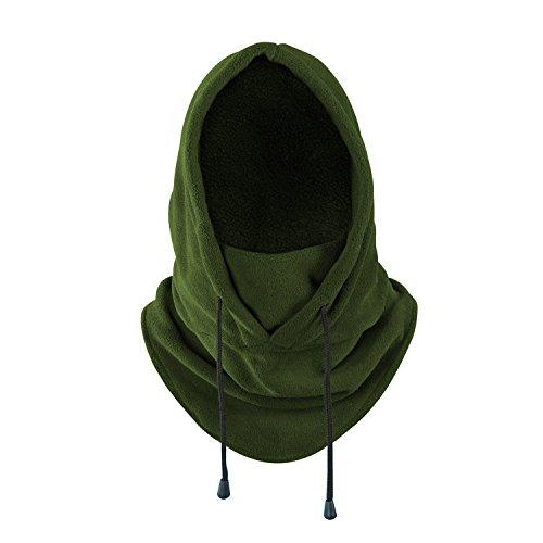 Balaclava Heavyweight Fleece Cold Weather Face Neck Mask (Green)