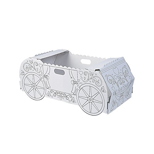 Fun Express - Cyo Princess Carriage Box Costume 1 pc - Craft Kits - CYO - Paper - Misc CYO - Paper - 1 Piece ()