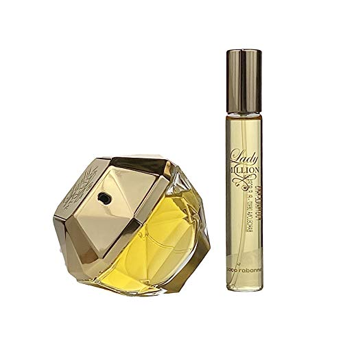 Paco Rabanne Lady Million 2 Piece Set (2.7 Ounce Eau De Parfum Spray + 20ml Travel Spray)