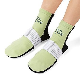NatraCure (Hot or Cold) Therapy Compression Socks - Plantar Fasciitis, Arch Heel Pain Relief - 710 CAT - (Large / (Cold Therapy Socks)