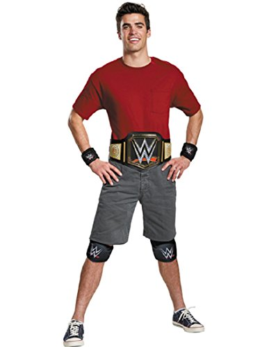 Disguise Men's WWE Championship Belt Adult Costume Kit, Multi, One Size -
