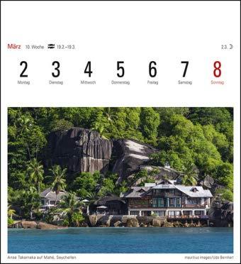 16 cm x 17,5 cm Kalender 2020 Harenberg-Verlag Trauminseln Sehnsuchtskalender Postkartenkalender mit 53 heraustrennbaren Postkarten