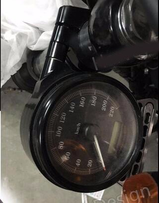 Black CNC SIDE MOUNT harley sportster SPEEDO RELOCATION BRACKET for HARLEY SPORTSTER 1995-2014 Happy-motor
