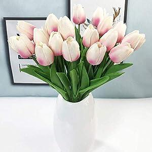 Artificial Flowers 30Pcs/Lot Pu Mini Tulip Flower Real Touch Wedding Flower Artificial Flower Silk Flower Home Decoration Hotel Party,Bule,30Pcs 3