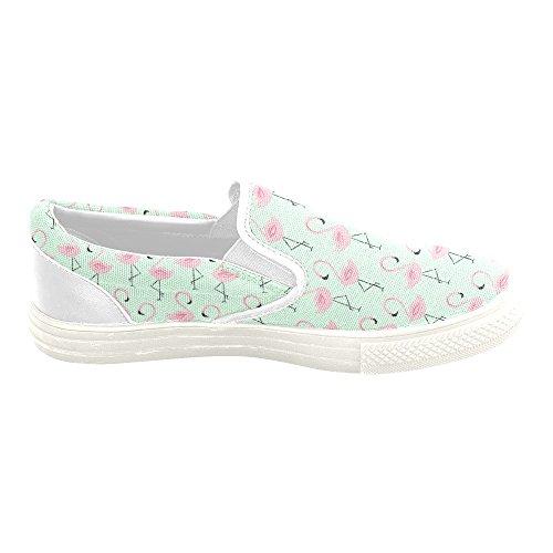 D-story Custom Sneaker Roze Flamingos Women Ongebruikelijke Instappers