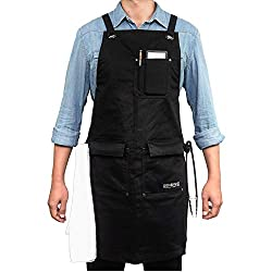 Gidabrand Professional Grade Chef Kitchen Apron With Double Towel Loop 10 Oz Cotton For Cooking Bbq And Grill Men Women Design With 3 Pockets Quick Release Buckle And Adjustable Strap M To Xxl