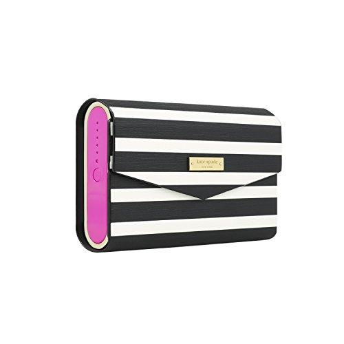 kate spade new york Portable Wireless Bluetooth Speaker includes Rose Gold Saffiano Cover with Black & Rose Gold Trim