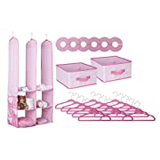 Delta Children Nursery Closet Organizer, Pink, 24 Piece