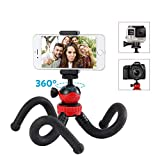 Phone Tripod - Moreslan Flexible Camera Tripod for Gopro - SLR Camera - Canon - Nikon - 360 Ball Head Mini Portable Travel Tripod Octopus Stand with Camera Cell Phone Mount Holder for iPhone Android Phone