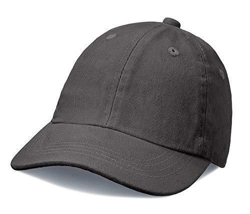 (City Threads Big Boys' and Girls' Solid Baseball Hat Sun Protection SPF Beach Summer - Charcoal - XXL(7-12))