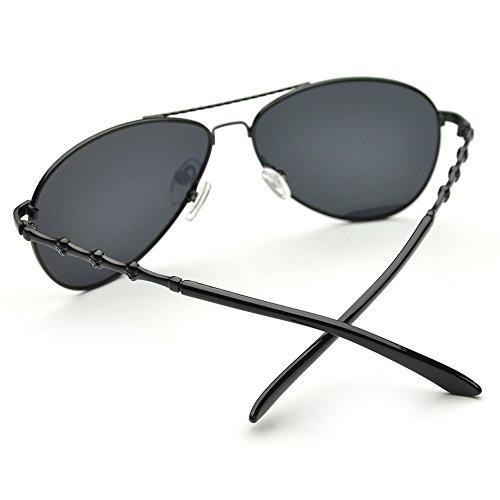 Pensee Mens Polarized Original Classic Metal Frame Aviator Sunglasses