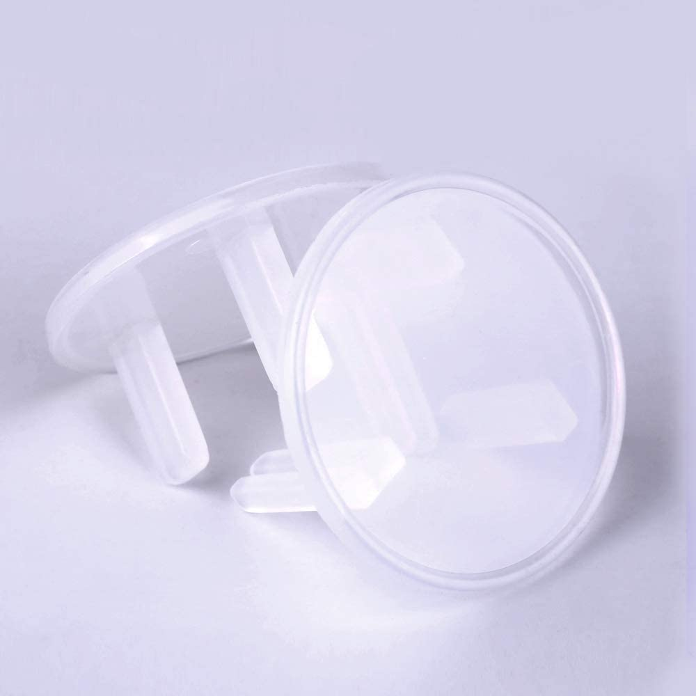 blanco Cubiertas de enchufe de salida para beb/és 30 unidades Aulola Secure Electric Plug Protectores resistentes a los ni/ños para el hogar