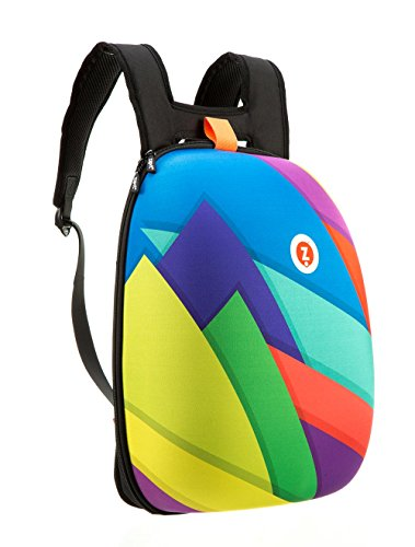 ZIPIT Shell Laptop Backpack, Colorful Triangles (ZSHL-CT)