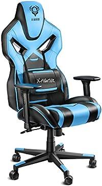 Diablo X-Fighter Gaming Stuhl Bürostuhl, verstellbare Armlehnen