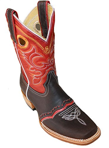 Biker Boots Roper Leather Rodeo Western Chick Cowboy Women's Moca Red TqUYwSaw