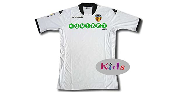 Kappa Valencia C.F. - Camiseta de fútbol para niño, 2009-10, 10 ...
