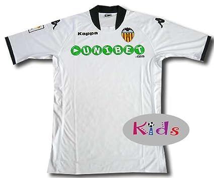 Kappa Valencia C.F. - Camiseta de fútbol para niño, 2009-10, 10 años