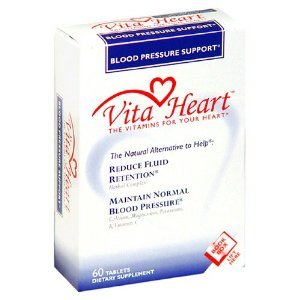 Vita Heart Dietary Supplement, Blood Pressure Support, 60 tablets
