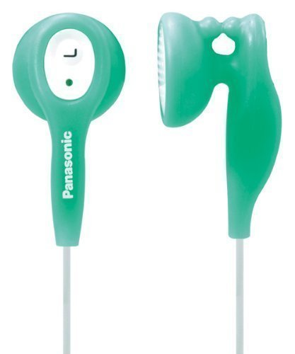 Panasonic - Green - In-Ear Earbud Heaphones with Built-in Clip