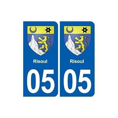 05 Risoul blasonville autocollant plaque stickers - Angles : arrondis Fournitures de bureau