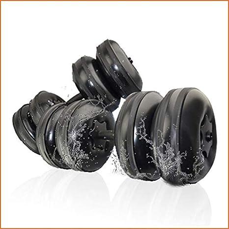 LEICH Viajes Pesas Ajustables Agua rellenable Pesas fijado for Hombres port/átil Equipo de Fitness Ejercicio Perfecto Regalo for la Familia Color : Black, Size : 5-10KG Pair of Dumbbells