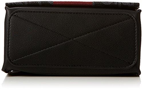 Mono Block Crossbody Mono Negro Calvin Klein red black Bolsos Bandolera Small Flap Mujer Rock EqZc4F5c