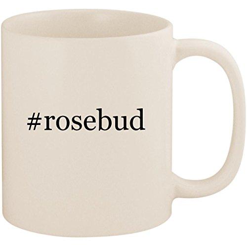 - #rosebud - 11oz Ceramic Coffee Mug Cup, White