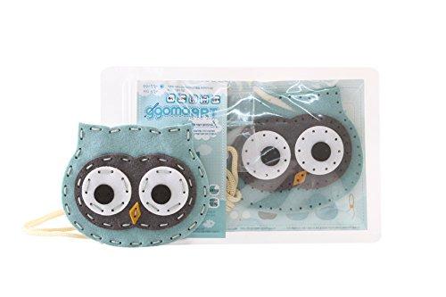 (ggomaART DIY Sewing Kit for Kids Do it Yourself Sewing Play for Kids Art Craft Sewing Craft Kits for Kids Art Education for Little Kids - Owl Neck Wallet)