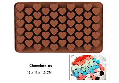 NEW Silicone Chocolate Mold 25 Shapes 3D Baking Tools Jelly Candy DIY Numbers Fruit Kitchen Gadgets chocolate25 ()
