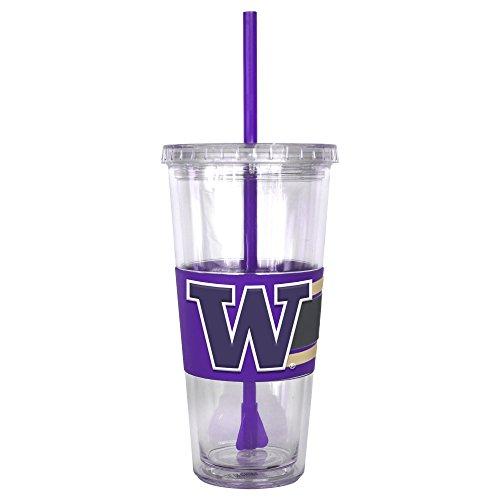 NCAA Washington Huskies Hype Straw Tumbler, - Washington Huskies Beverage