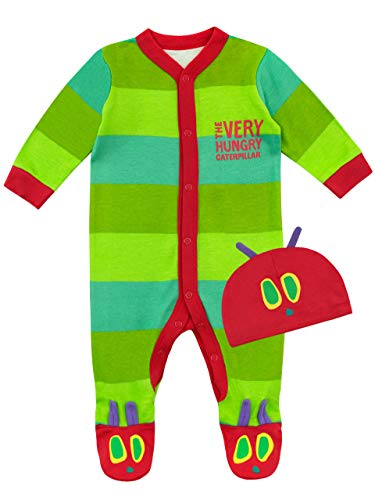 The Very Hungry Caterpillar Baby Footies & Hat Size 6-9M Green