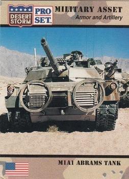 M1A1 Abrams Tank trading card (Desert Storm) 1991 Pro Set #209 Armor and (M1a1 Tank Armor)